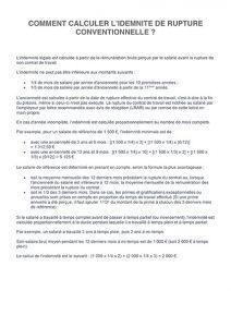 Notice de calcul de l'indemnité conventionnelle