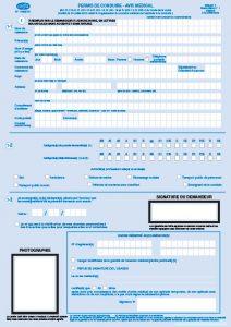 Avis médical pour le permis de conduire